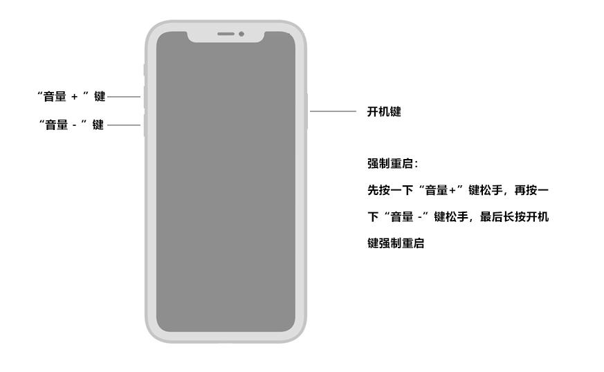 iPhone 8及更高版本强制重启