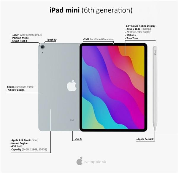 ipad mini6渲染图