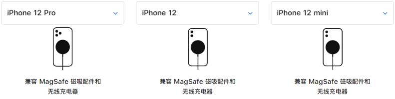 苹果 iPhone 12 新功能:支持 MagSafe 磁吸无线充电