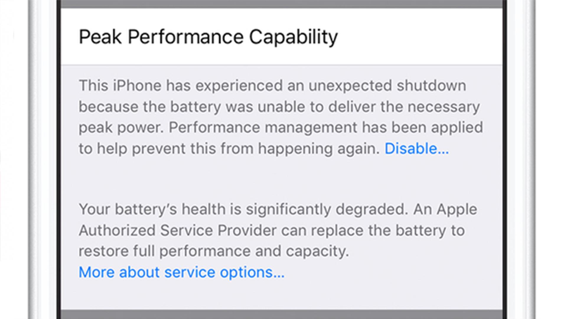 iPhone电池保修说明