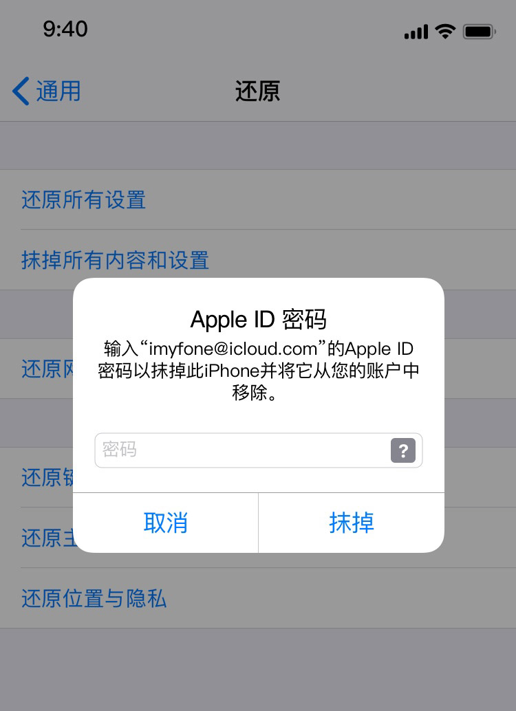 Apple ID 密码